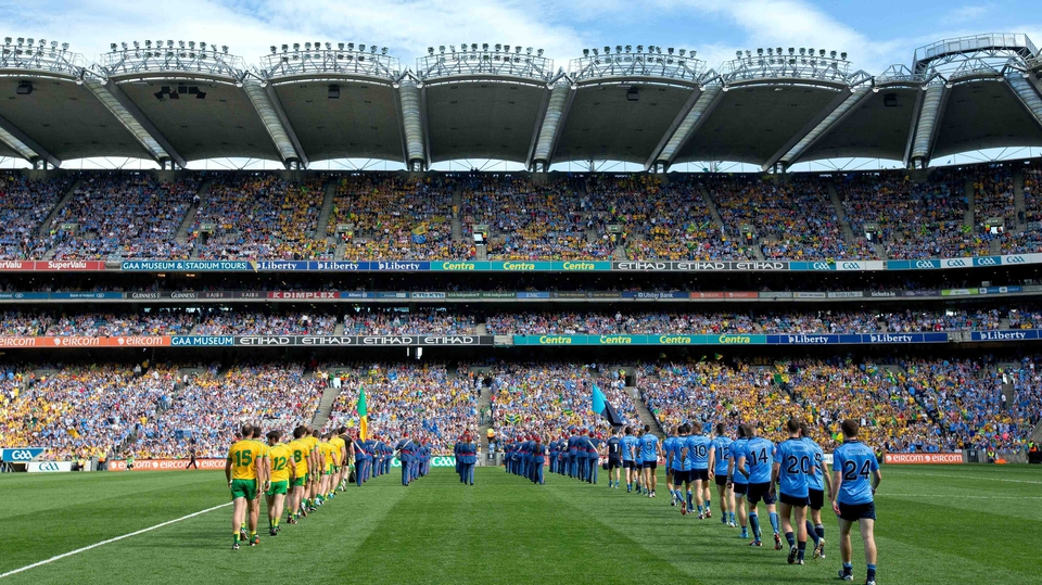 Croke Park Classic - Donegal and Dublin parade before the big game