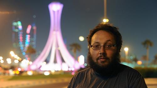 Steven Sotloff during a work trip in Manama in Bahrain in 2010