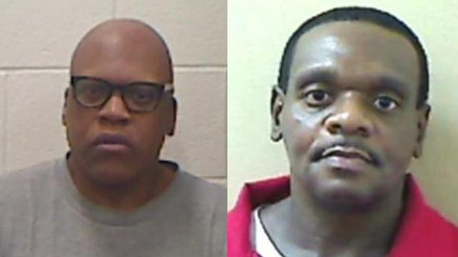 Leon Brown (L) and Henry Lee McCollum were freed after 30 years (pic: North Carolina Department of Public Safety)