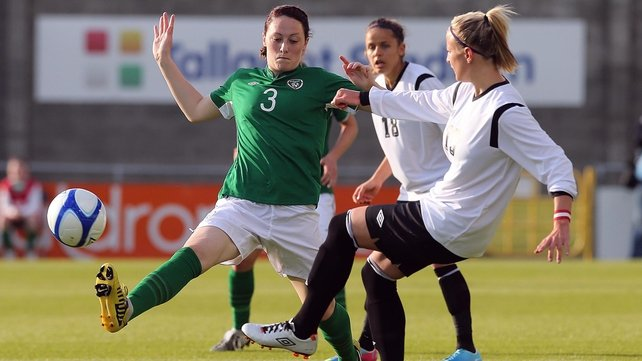 Megan Campbell (L) has recovered from a broken foot to boost Ireland