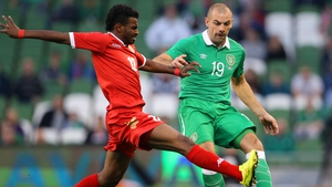 Darron Gibson made his first Ireland appearance for over 10 months against Oman last month