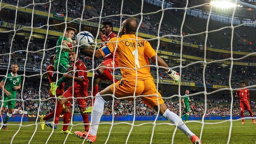 Kevin Doyle's header put Ireland ahead in the 20th minute
