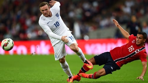 Captain Wayne Rooney converted a penalty in the 68th minute