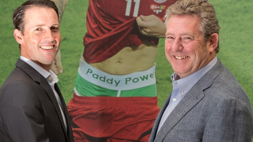 Paddy Power's CEO designate Andy McCue and chairman Nigel Northridge