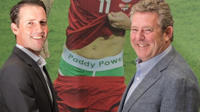 Paddy Power's CEO designate Andy McCue and chairman Nigel Northridge