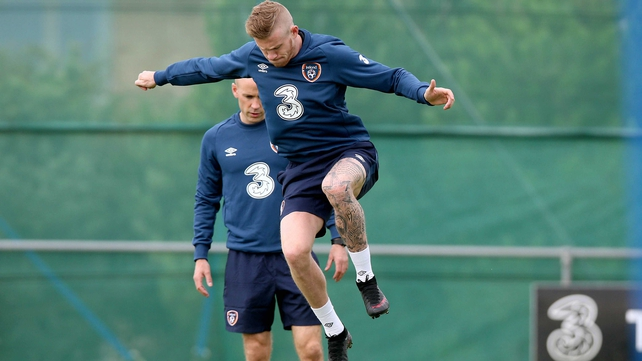 James McClean training
