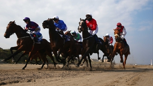 Horses in action during the Gilna's Cottage Inn Maiden