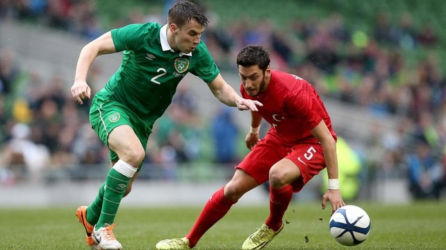 Seamus Coleman in action against Turkey in May