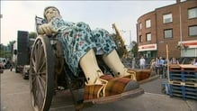 Giant wandering the streets of Limerick