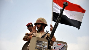 20 soldiers and tribesmen and 14 rebels were killed, the sources said