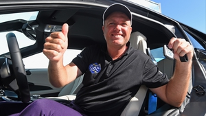 Graeme Storm with the keys to the car he won after making a hole in one on the 11th