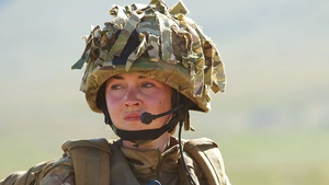 "Turner as Molly in Our Girl - ""It's quite nice because the two boys are so different"""