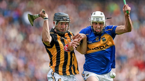 Patrick 'Bonner' Maher (R) scored 1-01 and won a penalty against Kilkenny in the drawn final