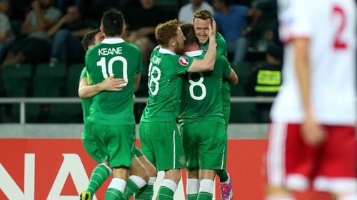 Aidan McGeady scored twice for Ireland