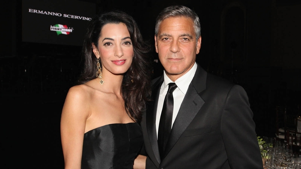 Amal accompanied George to the Celebrity Fight Night in aid of the Muhammad Ali Parkinson Center