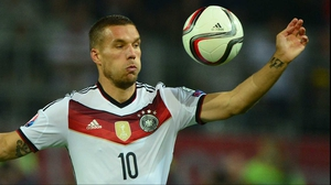 Lukas Podolski insists he has no thoughts of international retirement