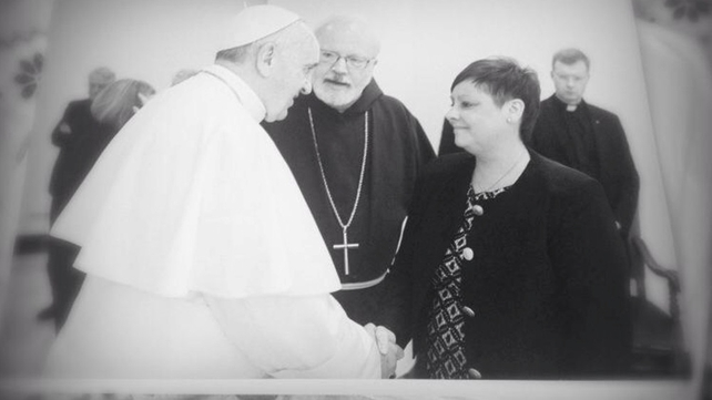 Marie Kane meets Pope Francis in the Vatican in June
