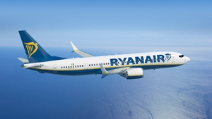 Ryanair carried a total of 8.8 million passengers last month