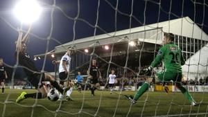 Dundalk's Kurtis Byrne scores his side's second goal