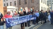Workers protested outside the High Court last week