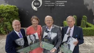 Aine Lawlor with her fellow inductees (l-r) - Tony Fenton, Paul Claffey and Walter Love