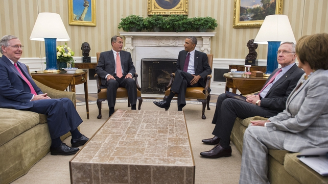 Barack Obama met with congressional leaders in the Oval Office