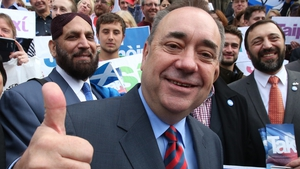 Scottish First Minister Alex Salmond said competition between Ireland and Scotland was a good thing