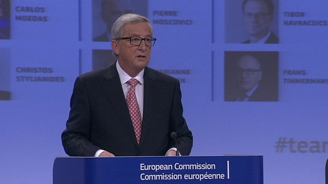 Jean-Claude Juncker makes the announcement this morning