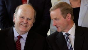 Michael Noonan gave the improved forecast ahead of Fine Gael's think-in, which is taking place in Cork
