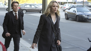 Rachel McAdams and Willem Dafoe in A Most Wanted Man