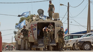 The Irish troops are part of the UNDOF mission in the Golan Heights