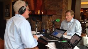 Cathal Mac Coille interviews Taoiseach Enda Kenny in Fota