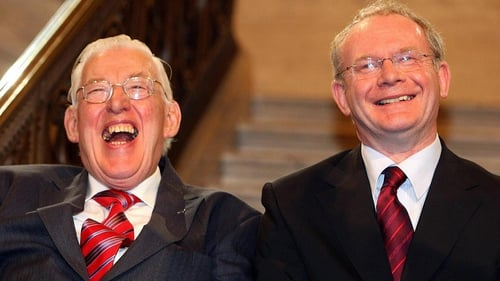 Martin McGuinness and then DUP Leader Ian Paisley (L) forged a good working relationship to many people's surprise
