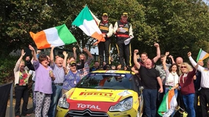 Daniel McKenna and Arthur Kierans celebrate their win (Picture credit: David Greer)
