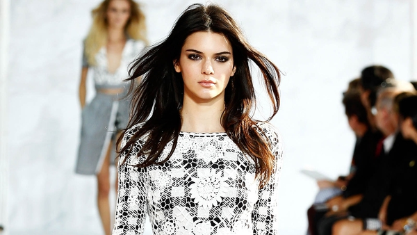 Kendall Jenner on the runway at Diane Von Furstenburg at New York Fashion Week