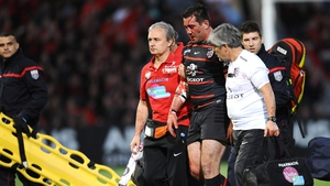 Florian Fritz leaves the pitch, concussed, only to return a few minutes later, in a controversial incident last year