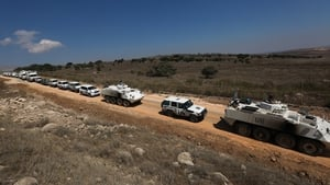 The UN operation in the Golan Heights was reviewed after recent violence in the area