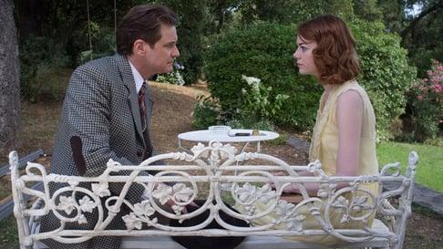 Colin Firth and Emma Stone