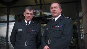 Deputy Chief Constable Drew Harris (left) with PSNI Chief Constable Matt Baggott in London