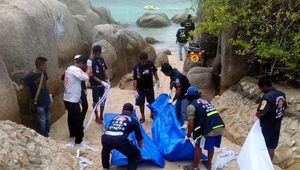 The bodies of Britons David Miller and Hannah Witheridge were found on a beach on Koh Tao yesterday