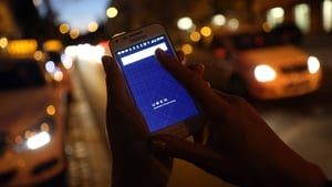 The Uber app allows users to summon cars using an app on their smartphones