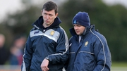 Former selector Mike Deegan (L) with Clare manager Davy Fitzgerald