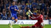 Cesc Fabregas opens the scoring for Chelsea at Stamford Bridge