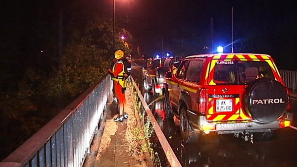 Rescue services worked through the night in Lamalou-les-Bains