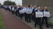 Cloverhill prison officers stopped work for one hour today and will do the same tomorrow
