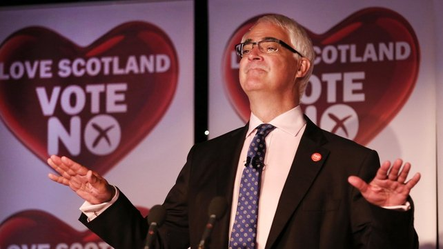 Alistair Darling said it was a 'momentous day' for Scotland and the UK