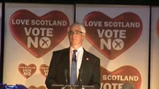 RTÉ News: Alistair Darling, chair of the Better Together campaign, thanks voters for backing the No campaign