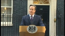 British Prime Minister David Cameron says the vote in Scotland is 'a clear result'