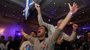 Better Together supporters celebrate at the Marriot Hotel in Glasgow