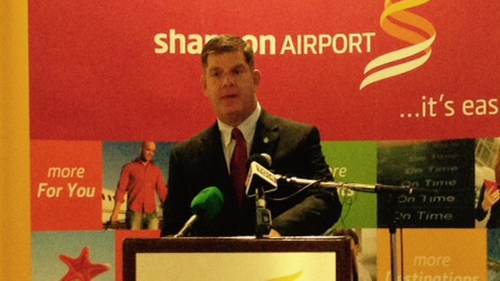 Mayor of Boston Marty Walsh said he was hugely proud and excited to be back home in Ireland